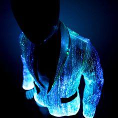 Glow in the dark fiber optic luminous jackets by YourMindYourWorld