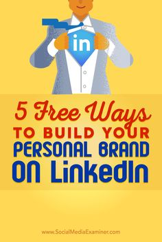 Do you want to build your visibility on LinkedIn? LinkedIn can help you build a professional presence that showcases your work to the people you most want to connect with. In this article, youll discover five free ways to help you build a personal bran Inbound Marketing, Marketing Digital, Business Marketing, Content Marketing, Online Marketing, Social Media Marketing, Business Tips, Linkedin Business, Marketing Strategies