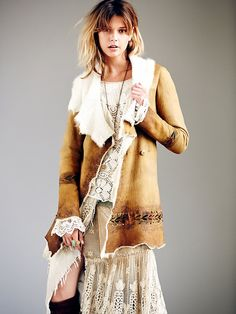 Hand Painted Suede Coat at Free People Clothing Boutique