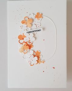 Scrapbooking, Heart Cards, Metal Flowers, Watercolor Cards, Flower Cards, Diy Cards, Cardmaking, Stampin Up, Birthday Cards