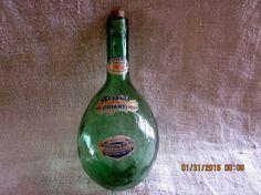 Unusual Pint Size Vintage Chianti Wine Bottle by angelinabella