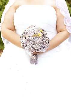 Bridal Brooch made by me for my daughter