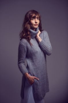 Crisp - Knit this ladies sweater with stand up collar from Rowan ...