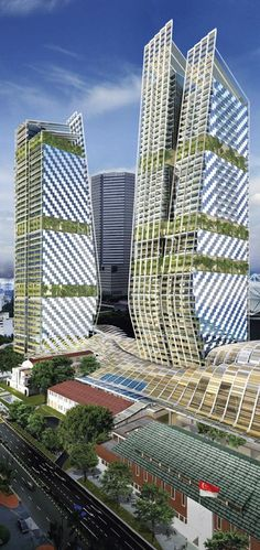 Beach Road Towers, Singapore designed by Foster + Partners :: height 182m