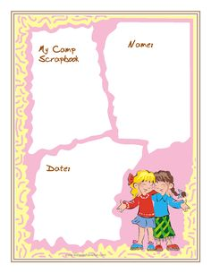 Camp Scrapbook for Girls