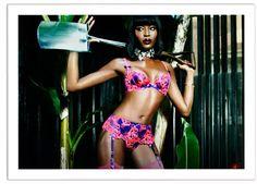 Naomi Campbell for Agent Provocateur SS15 Campaign Agent Provocateur  Lingerie 09fc26d91