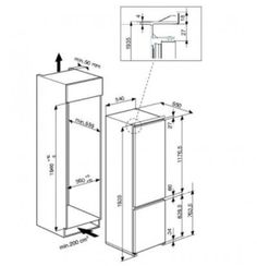 Whirlpool ART 9610/A+ Beépíthető kombinált hűtő | MALL.HU