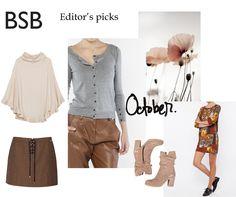 Εditor's picks for October! Our editor selected this month's must-have pieces from the BSB Fashion FW 15/16 Collection. Shop editor's picks here >> http://bit.ly/1FHQtFO