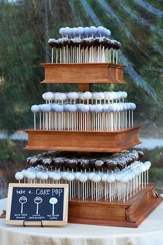 cake pops. I don't know why this hasn't caught on yet for weddings. It's so cute, especially for the groom's table!!