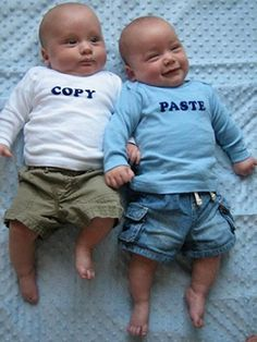 Copy/Paste - cute gift for someone who is having twins!
