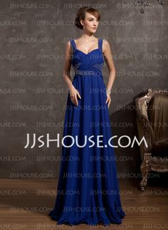 COMES IN SILVER TOO A-Line/Princess V-neck Floor-Length Chiffon Mother of the Bride Dress With Ruffle Beading (008014860) - JJsHouse