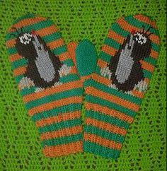 Myyrälapaset pattern by U. Fair Isle Knitting, Wool Socks, Crochet Purses, Mittens, Needlework, Knit Crochet, Diy And Crafts, Knitting Patterns, Gloves