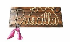 Priscilla: 42 Rope Name Sign Western Country by RopeAndStyle