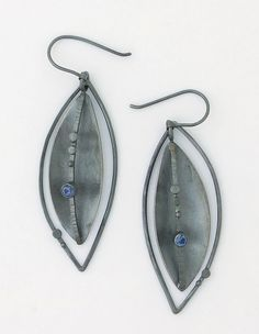 Midnight Silver Lake Earrings: Sydney Lynch: Silver & Stone Earrings | Artful Home