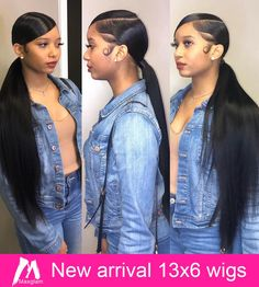 Best Free of Charge slick Ponytail Hairstyle Ideas A ponytail won't just ought to be a coiffure they even make towards gym. This kind of versatile updo could Long Ponytail Hairstyles, Hair Ponytail Styles, Cute Ponytails, Baddie Hairstyles, Straight Hairstyles, Curly Hair Styles, Ponytails For Black Hair, Long Ponytail Weave, Formal Ponytail