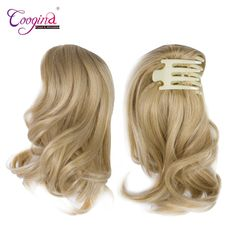 Hair Extensions & Wigs Doris Beauty 50cm Single Clip In One Piece Hair Extensions Colored Synthetic Long Straight Ombre Grey Blonde Red Hair Pieces Synthetic Extensions