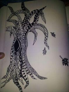 My Zentangle tree.