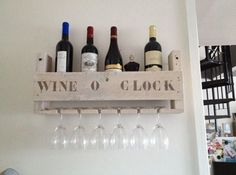 Симпатичная полка для вина #kitchen #кухня