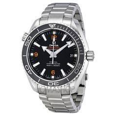 Omega Seamaster Planet Ocean Black Stainless Steel Mens Watch 23230422101003