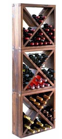 Scaffale In Abete Larice Per 144 Bottiglie