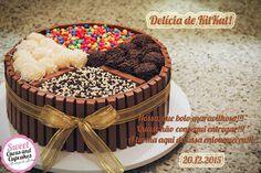 Sweet Cucas and Cupcakes by Rosângela Rolim: Delícia de Bolo de Kit Kat