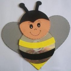 Fun Activities: Old CD Animal Crafts for Kids - Kids Art & Craft Kids Crafts, Animal Crafts For Kids, Bee Crafts, Plate Crafts, Craft Projects For Kids, Preschool Crafts, Art For Kids, Arts And Crafts, Recycled Cd Crafts