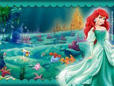 Plantillas de la Princesa Ariel la Sirenita