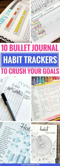 These 10 Habit Trackers for your bullet journal are AMAZING! So many pretty and easy ways to keep track and stay organized all year. Plus, there's so many options to choose from. Your bullet journal will look out of this world!