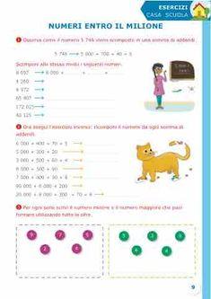 Sussidiario semplice 4 - Matematica 3, Amanda, Teaching, Home, Math Books, Education, Onderwijs, Learning, Tutorials