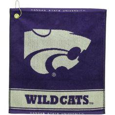 b6b3dfbffa41 Kansas State Wildcats Purple Woven Golf Towel