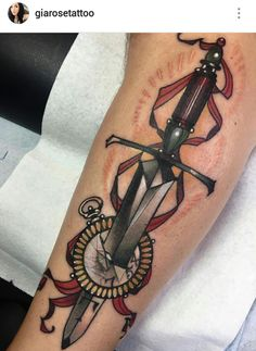 Sword tattoo by Gia Rose