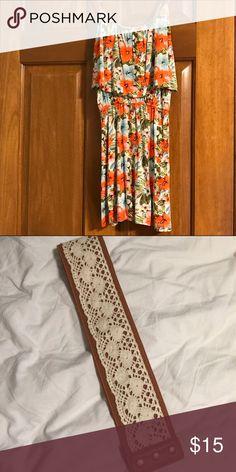 Rue 21 Floral Top Floral Pattern, Adjustable Straps, Soft Fabric For Comfort, Includes belt Rue 21 Tops Tank Tops