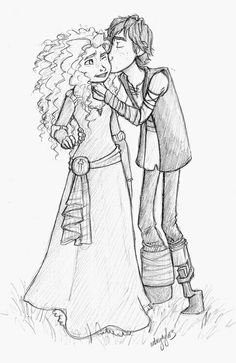 Marida and Hiccup- from the big four