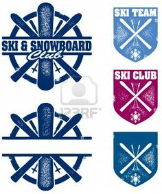 Illustration of Ski & Snowboard Club Stamps vector art, clipart and stock vectors. Eps Vector, Vector Graphics, Vector Art, Ski Club, Ski Season, Badge Logo, Vintage Ski, Ski Fashion, Art Icon