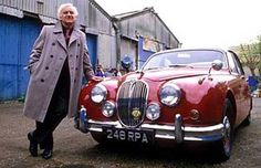 John Thaw as Inspector Morse (with his trademark Mark 2 Jaguar). Do you know what? I actually prefer Lewis, but Morse was a classic, as was the motor.