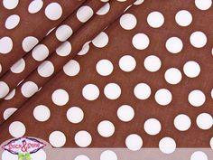Wunderschöner Stoff mit gleichgroßen, asymmetrisch angeordneten Punkten, welche jeweils einen Durchmesser von ca 1,5cm haben... - die frische Alter...