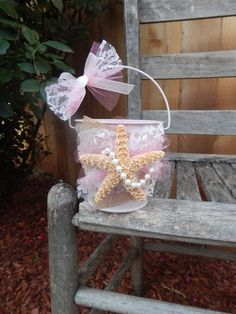 Pink Flower Girl Beach Bucket  by OneFunDay $25.00
