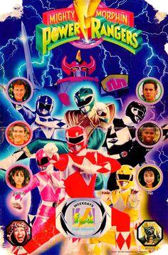 Vintage Mighty Morphin Power Rangers advertisement