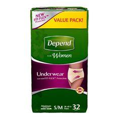 Depend For Women Maximum Absorbency S/M Underwear