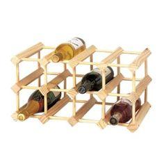 Modular Solid Pine Wine Rack - 12 Bottles (Kitchen)