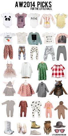 AW14 Girl Picks by littleinspirations.com - including our 'Sh!t My Kid Says' Tee