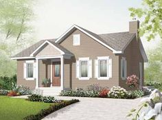 Discover the plan 3131 - Erindale from the Drummond House Plans house collection. Affordable 3 bedroom bungalow house plan with great open floor plan concept. Total living area of 1160 sqft. Cottage Style House Plans, Bungalow House Plans, Bungalow Homes, Cottage Style Homes, Country House Plans, Country Style Homes, Small House Plans, Cottage Design, Cottage Ideas