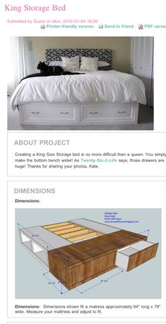 DIY King Storage bed...going to do this with some different colors and incorporate some venetian art work behind some old windows for the headboard!