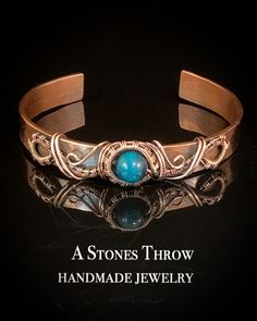 A Stones Throw handmade jewelry by AStonesThrowByBrigit Copper Wire Jewelry, Beaded Jewelry Designs, Copper Cuff, Bracelet Designs, Wire Wrapped Jewelry, Handmade Jewelry, Wire Wrapping Crystals, Stone Wrapping, Metal Bracelets