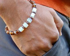 Spiritual Meditation and Healing Bracelet with Semi por tocijewelry