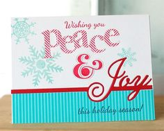 Make It Monday #138: Inlaid Die Cuts - Peace & Joy Card by Betsy Veldman for Papertrey Ink (October 2013)