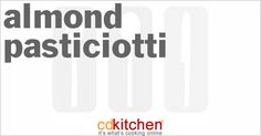 A recipe for Almond Pasticiotti made with flour, sugar, butter, lemon, egg yolks, almond paste, eggs, almond extract