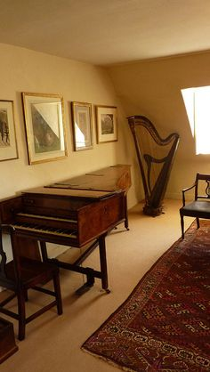 Fenton House in Hampstead Fenton House, Sunken Garden, Music Rooms, Piano Room, National Trust, Harp, Cello, Detached House, Musical Instruments