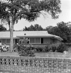 Elvis returned home to Audubon Drive from Denver 4-8-56