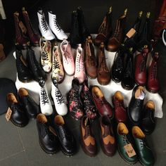 Family Show Dr Martens 1460, Dr. Martens, Family Show, Cherry Red, Red Green, Oxford Shoes, Dress Shoes, Lace Up, Navy